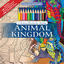 Color Your Way To Calm Animal Kingdom Coloring Book For