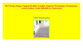 t t design shaggy teppich hochflor langflor teppiche