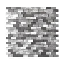 Eden Mosaic Tile EMT AL09 MIX CB 8PK 3D Raised Brick Pattern Grey