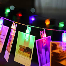 l starry photo wall lights led photo clip