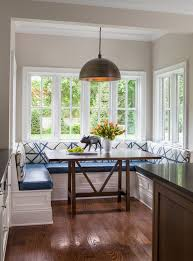 Ideas For Breakfast Dining Room Transitional With Banquette Seating Backless Bar Height Stools4 Leg
