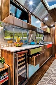 100 Restored Airstreams Midcentury Style Kitchen In Rare Restored Airstream Camper