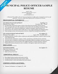 Sample Resume For Retired Police Officer Marvelous Lieutenant On
