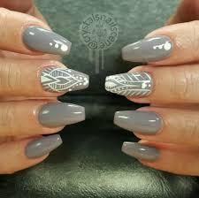 Grey And White Nail Designs Choice Image Nail Art and Nail