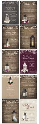 Lantern Wedding Invitations Rustic Lantern By NotedOccasions
