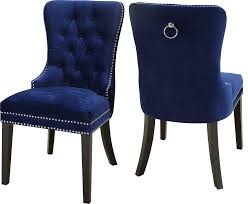 Nikki Velvet Dining Chairs, Set Of 2, Navy Navy Ding Room Chairs Beautiful Blue Upholstered Popular Turquoise Pascal Chair Set Of 2 Gingko Home Abbyson Sierra Tufted Velvet Wingback Adriani Of Wooden Leather Fabric John Lewis Ivory Homepop Classic Parsons Geo Brights Homepop K6805f2088 The Sofia Traditional With Natural Finish Partners Audley Covers Ghost