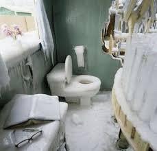 das badezimmer ist etwas eingefroren