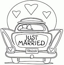 Free Wedding Coloring Pages Intended To Really Encourage Color And Just Married Page