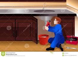 Fixing A Leaky Faucet Outside by Plumber Fixing A Leaky Faucet Stock Vector Image 42128593