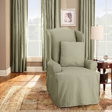 Wingback Chair Slipcover Linen by Slipcovers For Wingback Chairs At Home And Office