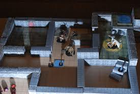 3d dungeon tiles and printable miniature gaming sets