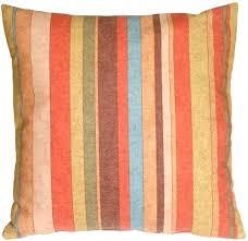 Rustic Throw Pillows Stripes Square Pillow Decor
