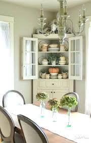Small Dining Room Hutch Faded Charm Ironstone In The Farmhouse
