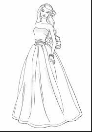 Terrific Barbie Doll Coloring Pages With Fashion And