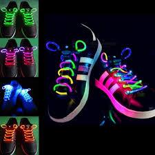 2pcs fashion led luminous shoelaces shoe laces light up