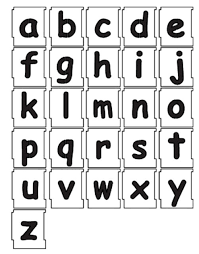 50mm Alphabet Letters Lowercase Stencil Set a to z ic Sans