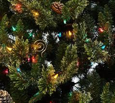 Bethlehem Lights Christmas Trees Qvc by Hallmark 7 5 U0027 Fallen Snow Christmas Tree With Quick Set Technology