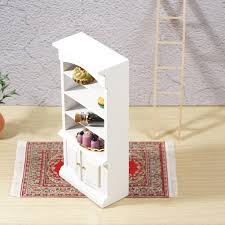 dollhouse miniature white lilac badezimmer regal schrank