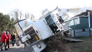 100 Boom Truck Crane Tips Over