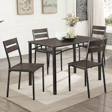 Furniture Of America Patton 5 Piece Rustic Modern Farmhouse Dining Table Set