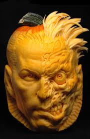 Largest Pumpkin Contest Winners by Andy Bergholtz Carves Up The Joker And Two Face For Dc Comics
