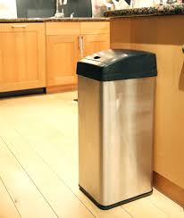 Under Cabinet Trash Can With Lid by Itouchless Square Automatic Trash Can Bj U0027s Wholesale Club