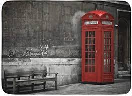 badematte englisch box britische telefonzelle in