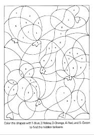 Color By Number Coloring Pages Free Numbers Math