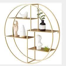 jhslxd goldene wandbehang regal kreativ wohnzimmer