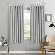 ckny vorhang blickdicht verdunklungsvorhänge thermal schals mit schlaufen gardinen für schlafzimmer wohnzimmer grau 145cm x 130 cm h x b