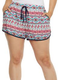 plus size shorts for women rainbow
