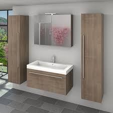 badmöbel set city 100 v7 eiche braun badezimmermöbel waschtisch 100 cm 17628 ohne spiegelschrankbeleuchtung