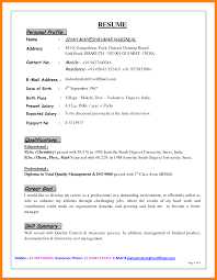 profile summary exle for resume resume for study