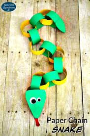 Easy Arts And Crafts For Children How To Make A Paper Chain Snake Fun Art Craft