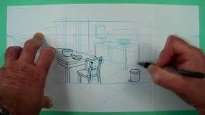 zimmer mit möbeln 2 punkte perspektive zeichnen für kinder