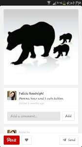 Mama Bear With Cubs Tattoo Ideas Rh Com Watercolor