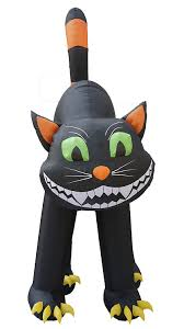 Halloween Blow Up Decorations by Amazon Com 20 Foot Animated Halloween Inflatable Black Cat Home