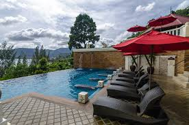 Swimming Pool With Umbrellas Recliner 53659