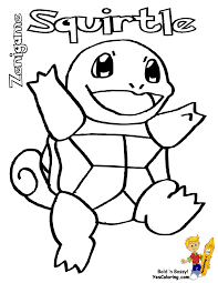 Pokemon Squirtle Coloring Pages Free