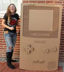 Cardboard Nintendo Game Boy Color Has One