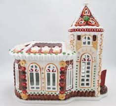 Spode Christmas Tree Village Cookie Jar by Villeroy U0026 Boch Christmas Xmas Germany Chapel Angel Candle