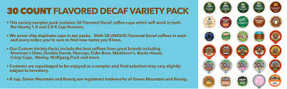 Keurig 20 Pumpkin Spice Latte by Decaf Coffee Variety Sampler Pack For Keurig K Cup Brewers 30