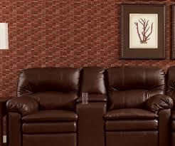 Wall Saver Reclining Couch by Lane Home Theater Double Reclining Sofa With Console Stargate Cinema