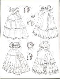 ENCHANTED LADIES BY SUSAN SIRKIS PAPER DOLL Coloring SheetsAdult
