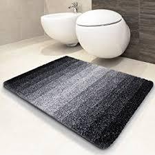 tapis de bain casa pura ombre noir blanc ultra doux et souple