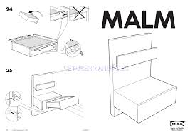 ikea tables malm bedside table 20x16 assembly instruction
