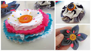 3 Easy Fabric Flowers