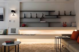 Image Of Decorating Living Room Shelves Contemporary
