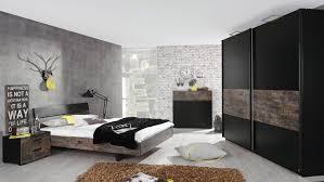 schlafzimmer set sumatra in schwarz und vintage braun