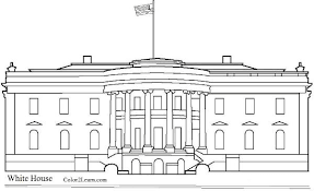 The White House Coloring Page And Facts